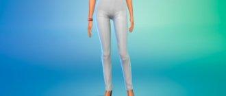 Женские брюки с высокой талией для Симс 4 - фото 1
