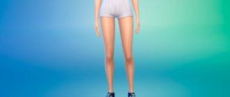 Женские спортивные шорты для Симс 4 - фото 1