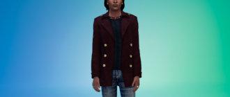 Кашемировое пальто для Симс 4 - фото 1
