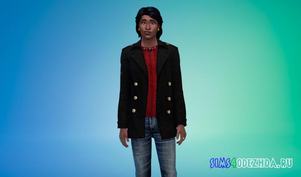 Кашемировое пальто для Симс 4 - фото 2