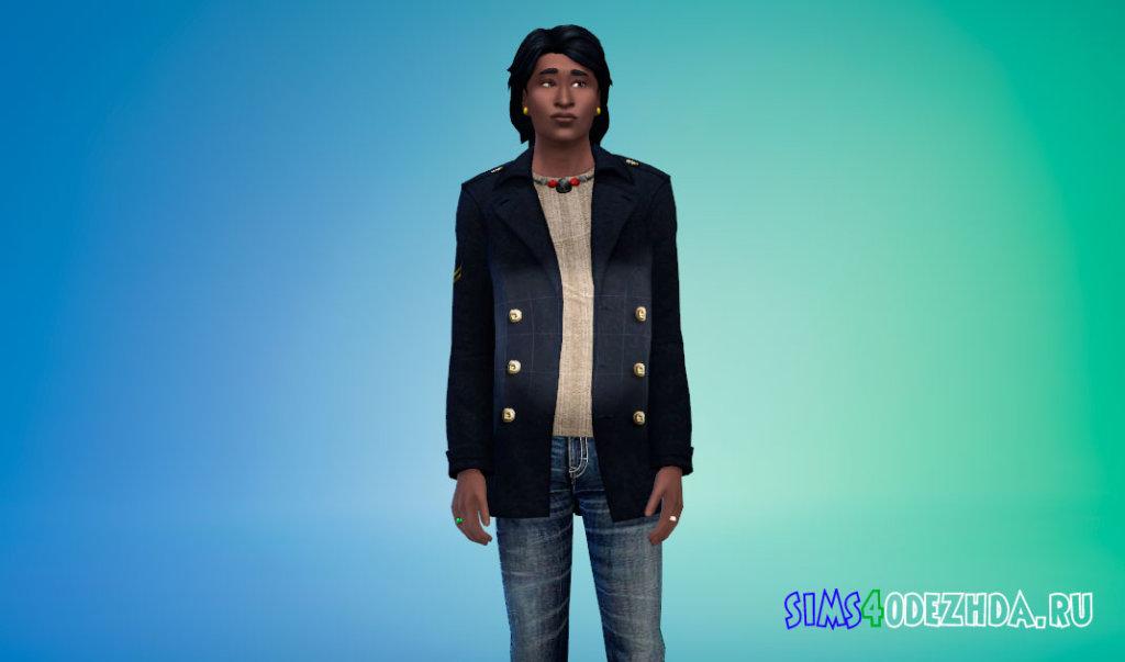 Кашемировое пальто для Симс 4 - фото 3