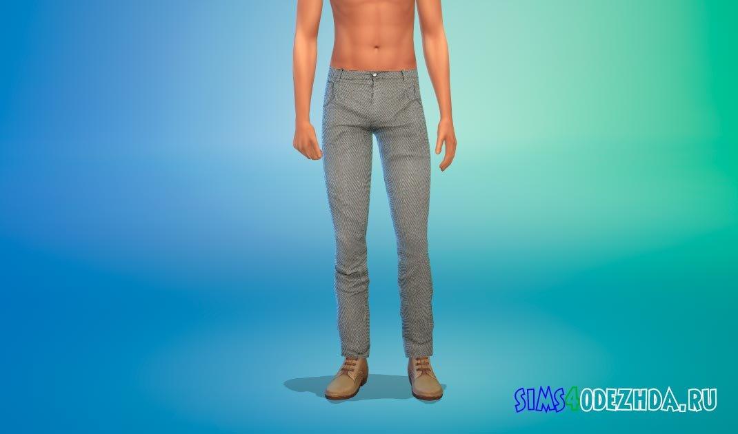 Классические брюки для мужчин для Симс 4 - фото 1
