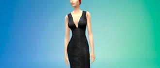 Красивое латексное платье для Симс 4 - фото 1