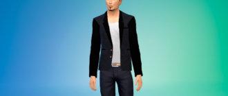 Кроуфордский пиджак для Симс 4 - фото 1