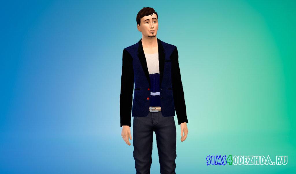 Кроуфордский пиджак для Симс 4 - фото 2