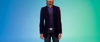 Легкое мужское пальто для Симс 4 - фото 1