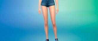 Модные женские джинсовые шорты для Симс 4 - фото 1