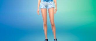 Модные женские шорты для Симс 4 - фото 1