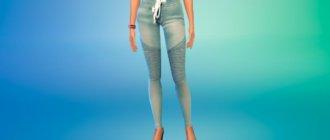Модные штаны для женщин для Симс 4 - фото 1
