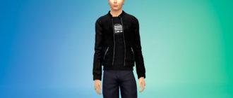 Мужская куртка корейской k-POP группы BIGBANG для Симс 4 - фото 1