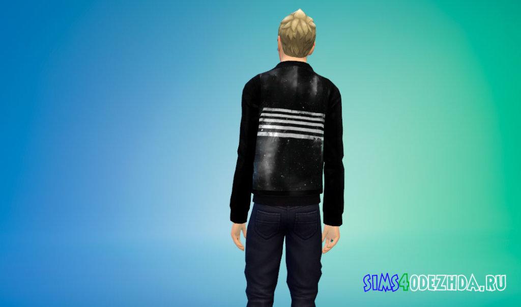 Мужская куртка корейской k-POP группы BIGBANG для Симс 4 - фото 3