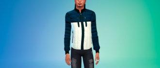 Мужская пуховая куртка для Симс 4 - фото 1