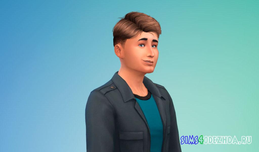 Мужская стрижка с выбритыми висками для Симс 4 - фото 2