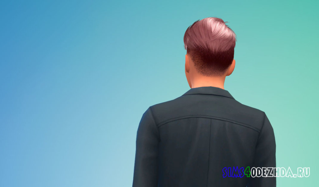 Мужская стрижка с выбритыми висками для Симс 4 - фото 3