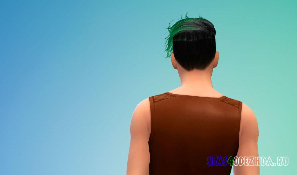 Мужские волосы с боковой укладкой для Симс 4 - фото 3
