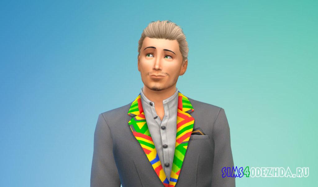 Мужские волосы с пучком для Симс 4 - фото 1