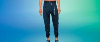Мужские свободные брюки для Симс 4 - фото 1