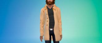 Мужское зимнее пальто для Симс 4 - фото 1