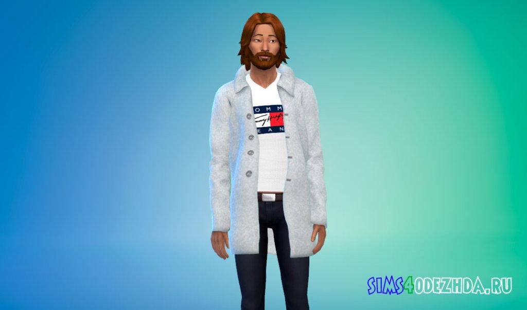 Мужское зимнее пальто для Симс 4 - фото 2