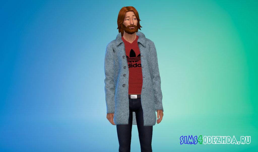 Мужское зимнее пальто для Симс 4 - фото 3