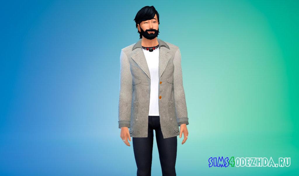 Мужское шерстяное пальто для Симс 4 - фото 2