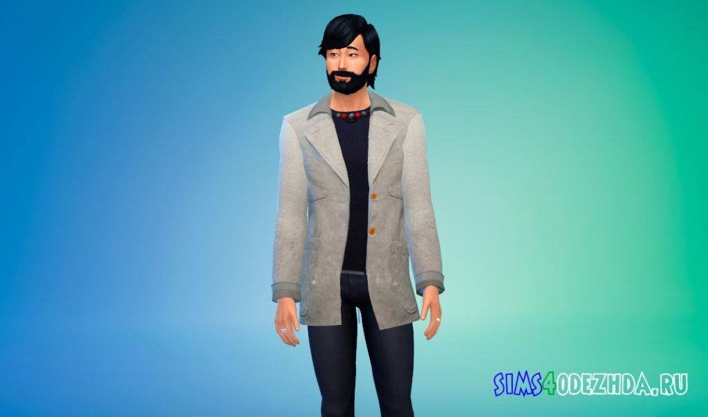 Мужское шерстяное пальто для Симс 4 - фото 3