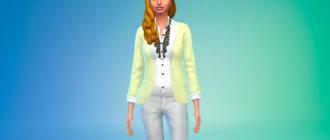 Пиджак в пастельных цветах для Симс 4 - фото 1