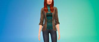 Пиджак с свитером для Симс 4 - фото 1