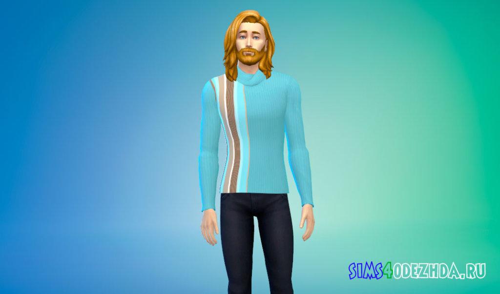 Простой мужской свитшот для Симс 4 - фото 3