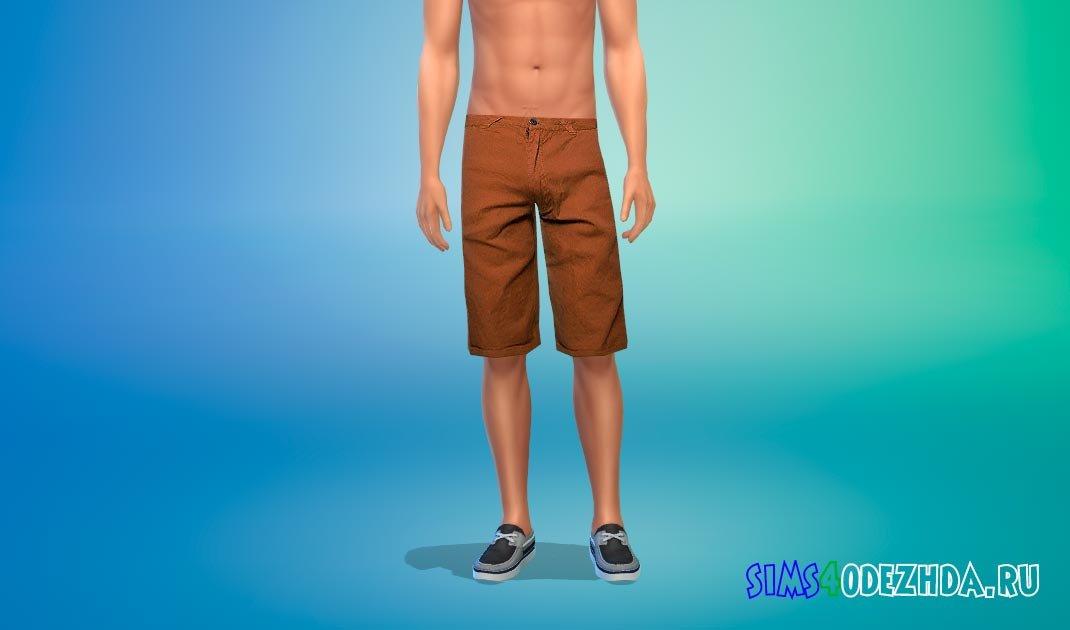Простые мужские бриджи для Симс 4 - фото 1