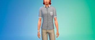 Рубашка с короткими рукавами для Симс 4 - фото 1