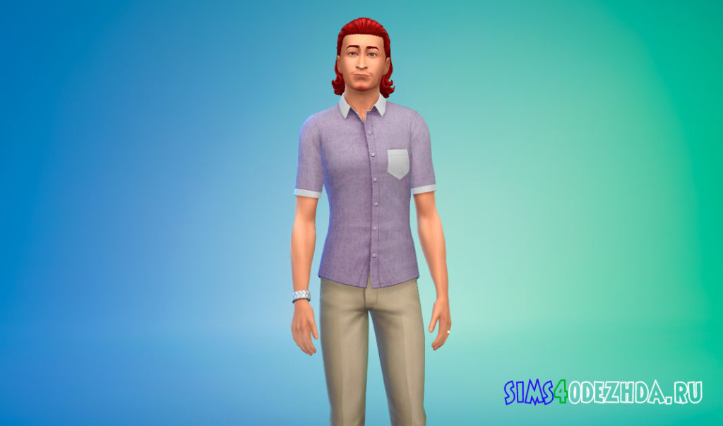 Рубашка с короткими рукавами для Симс 4 - фото 2
