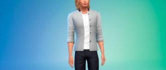 Современный мужской пиджак для Симс 4 - фото 1