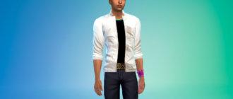 Стильная легкая куртка для мужчин для Симс 4 - фото 1
