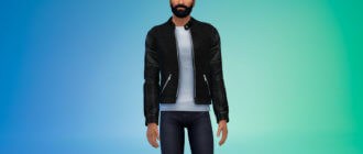 Стильная мужская куртка для Симс 4 - фото 1