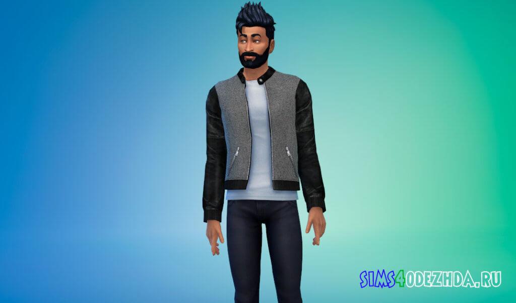 Стильная мужская куртка для Симс 4 - фото 2