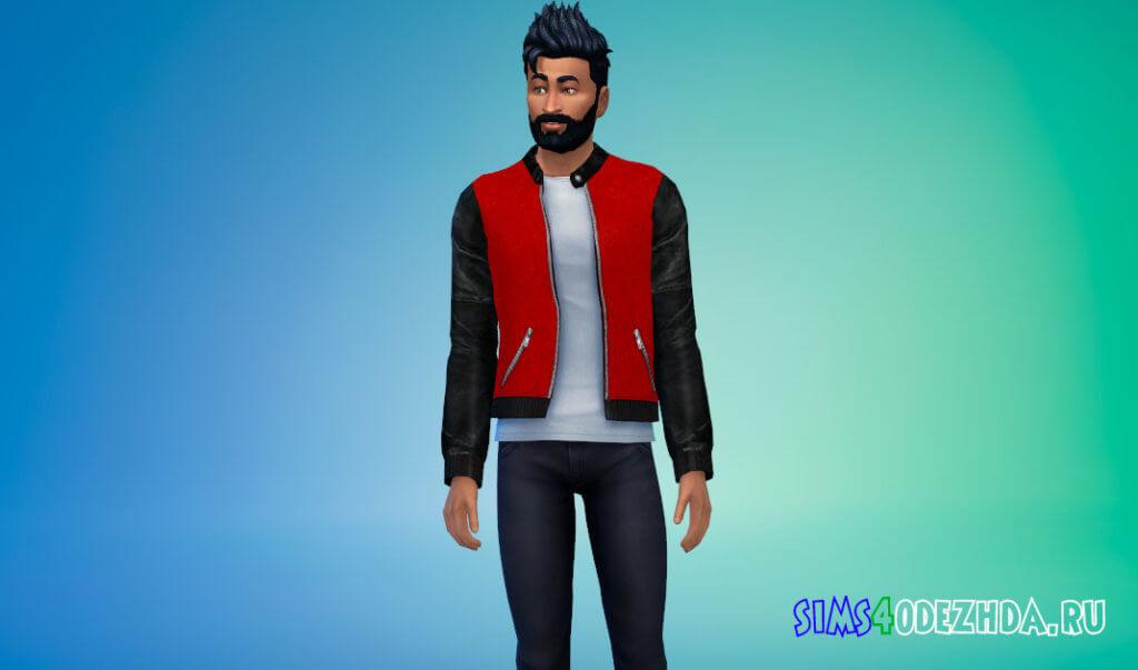 Стильная мужская куртка для Симс 4 - фото 3