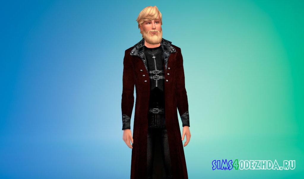 Стильное мужское пальто для Симс 4 - фото 2