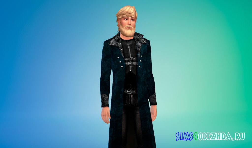 Стильное мужское пальто для Симс 4 - фото 3