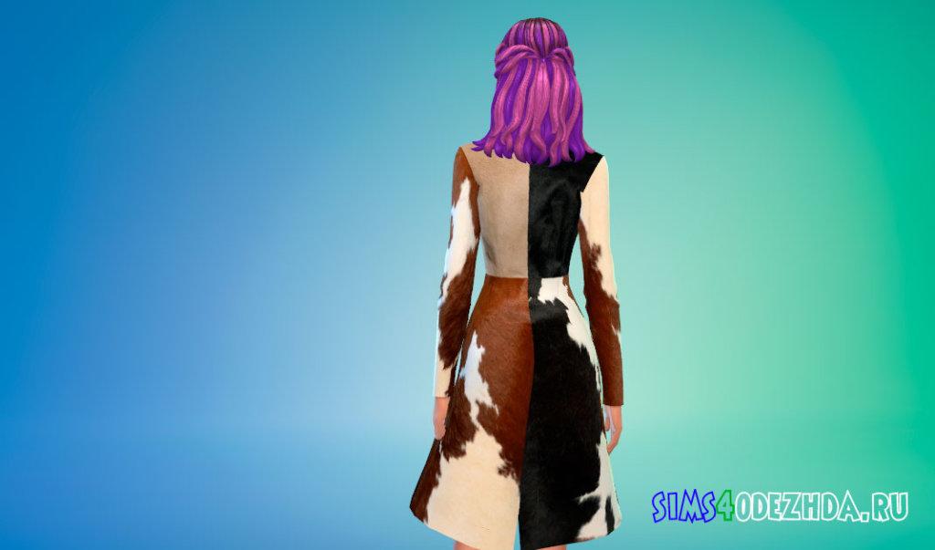 Стильное пальто с V-образным вырезом для Симс 4 - фото 3