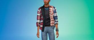 Стильные мужские рубашки для Симс 4 - фото 1