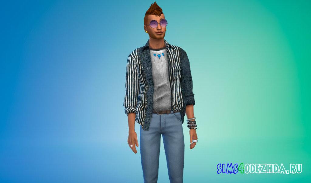 Стильные мужские рубашки для Симс 4 - фото 2