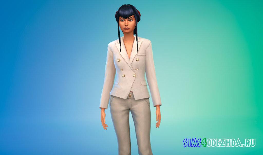 Стильный женский пиджак для Симс 4 - фото 1