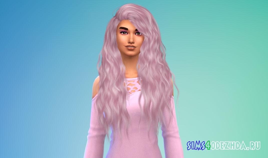 Длинные волнистые женские волосы для Симс 4 - фото 1