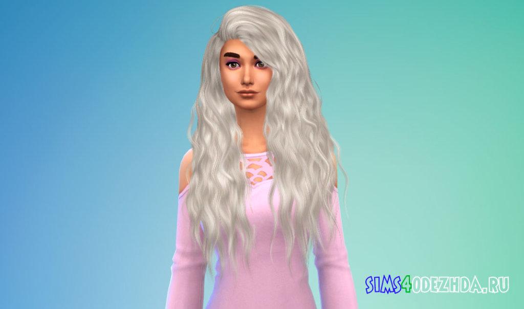 Длинные волнистые женские волосы для Симс 4 - фото 2