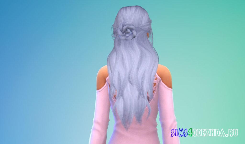 Длинные красивые женские волосы с пучком для Симс 4 - фото 3