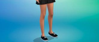 Женские джинсовые кеды для Симс 4 - фото 1