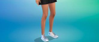 Женские кеды Nike для Симс 4 - фото 1