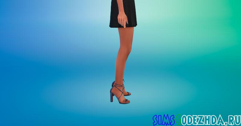 Женские туфли с повязками для Симс 4 - фото 2