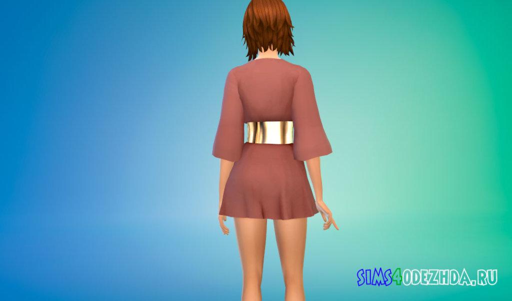 Женское оверсайз платье для Симс 4 - фото 3